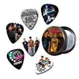 Blink 182 Set of 6 Loose Guitar Médiators in Tin ( Collection A )