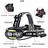 lzndeal Headlight Induction LED USB Rechargeable Lantern Headlamp LED Head Working Light