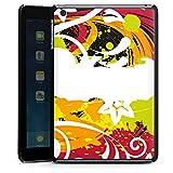 Apple iPad mini 3 Hülle Schutz Hard Case Cover Schnörkel Bunt Blumen