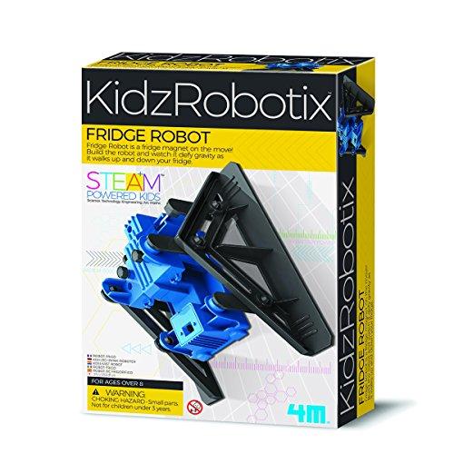 4M 00-03391 der KidzRobotix Roboter Macht Physik spielerisch erlebbar. Mühelos besiegt er die Schwerkraft und klettert den Kühlschrank oder Jede Andere magnetische Fläche hinauf, bunt
