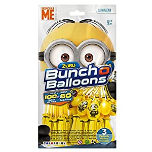 X-Shot - Bunch O Balloons Pack Los Minions 3 manojos con 100 y 5 globos (48011)