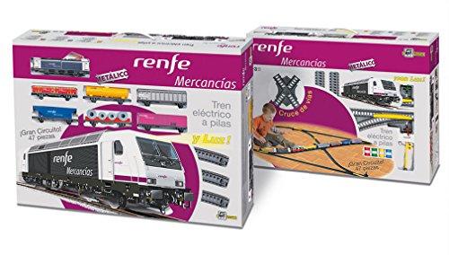 Tren Electrico Metalico LUZ de Mercancias de Renfe Cruces Desvios 888_tren