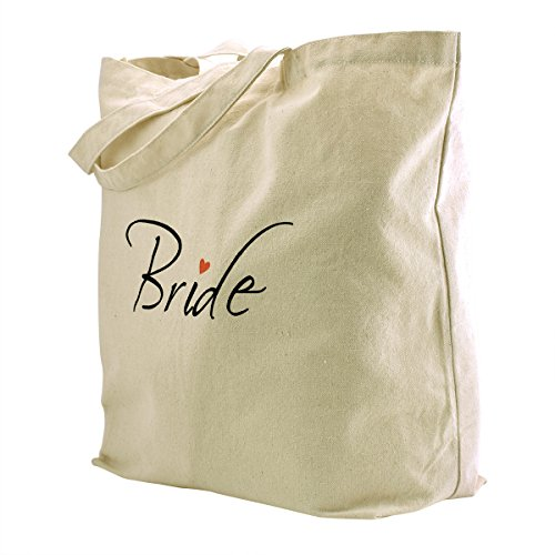 ElegantPark Mother Donne Shopper Naturale Tela 100% Cotone Tote Bags Media Scarpe Regalo Borsa 1Pack Bride