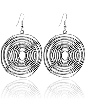 2LIVEfor Ohrringe Spirale Ethno Tropfen Tibet Schnecke Groß Rund Ohrringe Bohemian Vintage Ohrringe Hängend Antik...
