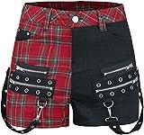 Verbotene Spaziergang Die Linie Rockabilly Shorts, Rot / Schwarz, EU-40
