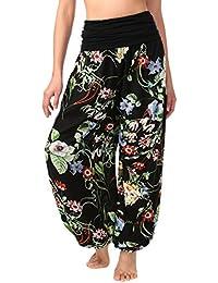 Slivexy Femme Sarouel Pantalon Boho jambe large