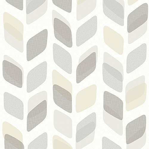 galerie-unplugged-abstract-leaf-pattern-retro-geometric-vinyl-wallpaper-grey-charcoal-un3008