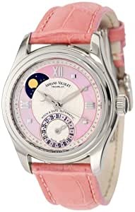 Armand Nicolet M03 9151A-AS-P915RS8 34mm Automatic Stainless Steel Case Pink Leather Anti-Reflective Sapphire Women's Watch