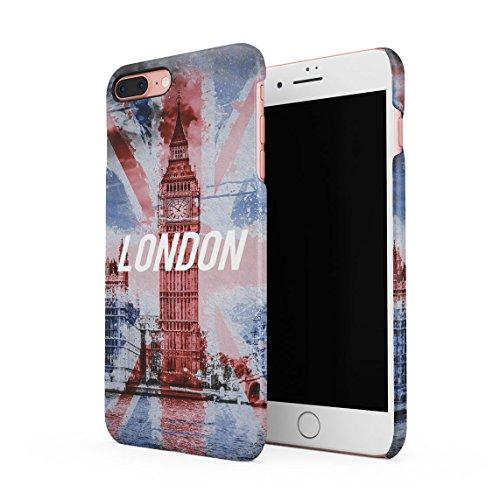 Pale Vintage London Center Big Ben Dünne Rückschale aus Hartplastik für iPhone 7 & iPhone 8 Handy Hülle Schutzhülle Slim Fit Case cover Big Ben London