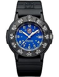 Luminox 3003 - Reloj analógico de caballero de cuarzo con correa de plástico negra - sumergible a 200 metros