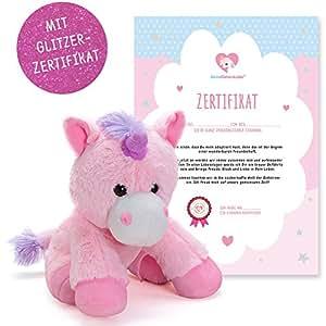 EinhornLiebe® Einhorn Kuscheltier Pretty Pink (25cm) inkl. Adoptionszertifikat