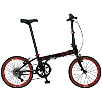 New 2015 Dahon Speed D7 20 7 Speed Folding Bicycle (Black/Red