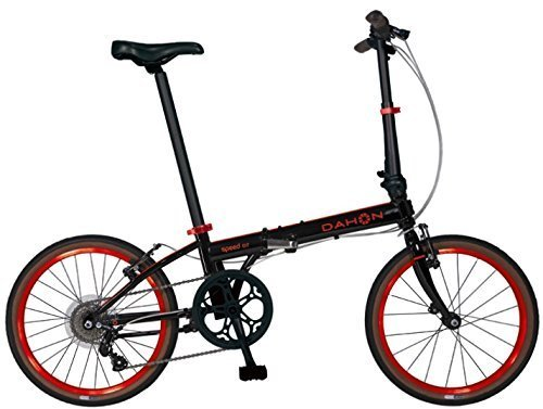 New 2015 Dahon Speed D7 20'' 7 Speed Folding Bicycle (Black/Red) by Dahon