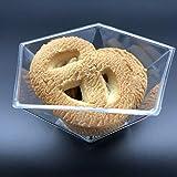 Ahippob Mini Dessert Tazze–40pz/Set Dessert Tazze Mini cubi Clear degustazione/104,9Gram Sample contenitori in Vetro Elegante Piazza Ciotole di plastica USA e Getta