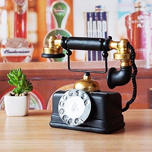 Amerikanische Antike Möbel (ZPSPZ Home Dekoration Wohnzimmer Amerikanische Retro - Möbel Dekorative Inneneinrichtungsgegenstände Antiken Telefon Café Wohnzimmer Tv - Kabinett Dekoration 19 * 10 * 16Cm)