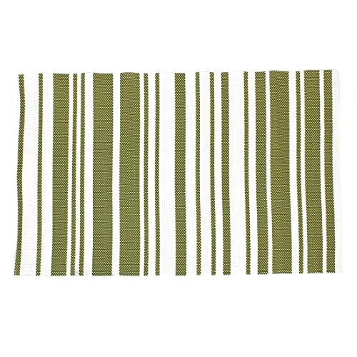 Forme Rectangle Heat antidérapante Résistant Mat Pad Pan Vert Blanc