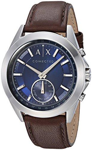 38723809e0a8 Armani Exchange Reloj Analogico para Hombre de Cuarzo con Correa en Cuero  AXT1010