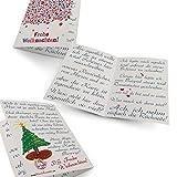 Lustige Weihnachtskarte Platzmangel von Faules Einhorn, auf hochwertigem 300g Papier inklusive Umschlag