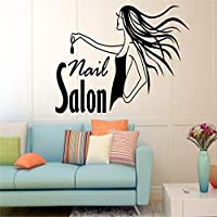 Ajcwhml Nail Girl Beauty Salon Wall Stickers Polish Manicure Pedicure Spa Interior Waterproof Home Wedding Vinyl Decals 42X66Cm