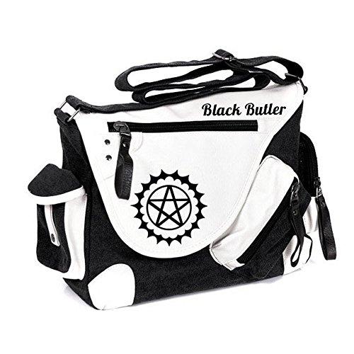 Siawasey anime giapponese Cosplay borsa Satchel zaino messenger bag borsa a tracolla nero One-Punch Man2 Black Butler
