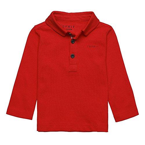Esprit Kids Baby-Jungen Langarmshirt Polohemd, Rot (Red 375), 92