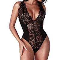 JYC Clearance Hot Sale 2018 Women Sexy Lingerie Set Lace Flower See Through Babydoll Nightdress + G-String Underwear Lingerie Bodystocking Obsessive Dress Bodysuit Collar Babydoll