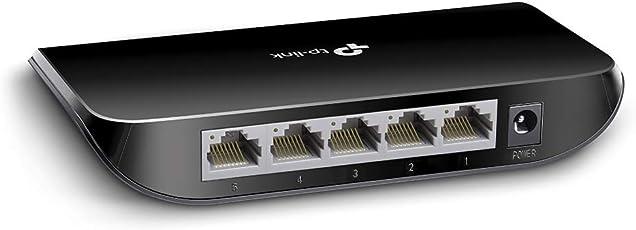TP-Link TL-SG1005D 5-Port Gigabit/Netzwerk Switch (bis 2000 MBit/s, geschirmte RJ-45 Ports, Auto-MDI/MDIX, bis zu 70% Energie einsparen, Plug-and-Play Installation, lüfterlos) schwarz