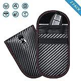 Enjoyee 2 Pack Keyless Go Schutz Autoschlüssel,Enjoyee® Mini RFID Funkschlüssel Abschirmung Schlüsseltasche,Signalabschirmung wasserdicht Entmagnetisierung verhindern