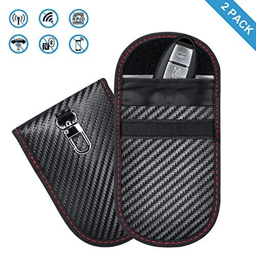 2 Pack Keyless Go Schutz Autoschlüssel,Enjoyee Mini RFID Funkschlüssel Abschirmung Schlüsseltasche,Signalabschirmung wasserdicht Entmagnetisierung verhindern