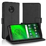 Simpeak Motorola Moto G6 Plus,Custodia Motorola Moto G6 Plus in Pelle Portafoglio con Supporto,Cover Custodia Moto G6 Plus,Custodia Moto G6 Plus,Nero