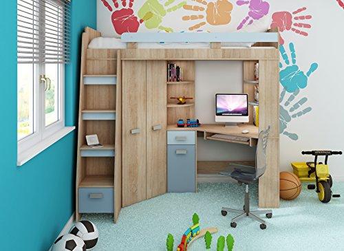 Etagenbett Mit Schrank Und Schreibtisch : ▷ hochbett mit treppe und schreibtisch » test [2017 2018