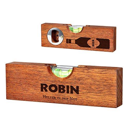 polar-effekt Mini Wasserwaage mit Flaschenöffner mit 2 Seitige Gravur - Individuelles Geburtstagsgeschenk für Männer - Bieröffner