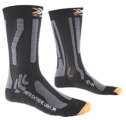 X-Socks Herren Socken MOTO EXTREME LIGHT, Black/Anthracite, 35/38, X020426 -