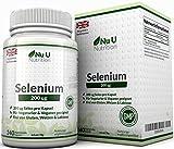 Selen 200 mcg - L-Selenomethionin - 240 Kapseln - Hochdosiertes