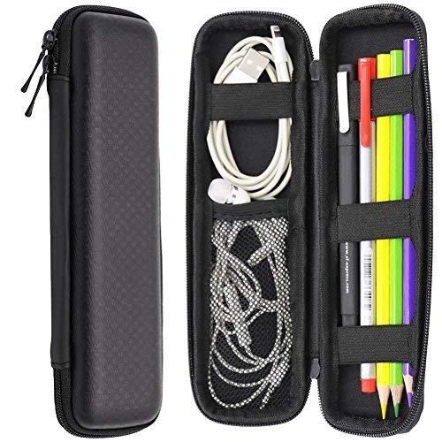 Schwarz EVA Hard Shell Eingabestift Bleistift Fall mit Box Tasche Container für Executive Füllfederhalter, Kugelschreiber, Stylus Touch Pen, Bleistift, USB Kabel Executive Stylus Pen