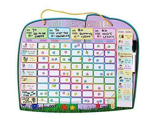 children-magnetic-reward-star-chart-up-to-four-children