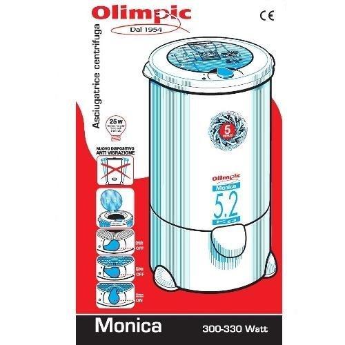 aa6f0c7d1978eb DPE Monica Olimpic 5800, asciugatrice a centrifuga da 330 W e 5,2 kg –  Opinione e recensione