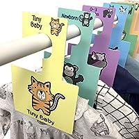 Separadores para armario de Bebé Belo + Me | animales de safari | Paquete de 16 | Perchas para armario de doble cara | Se adapta a todos los rieles estándar para armarios (animales de safari)
