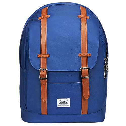 """Preisvergleich Produktbild Lässiger Daypacks,  KAUKKO 16 Zoll Laptop Outdoor Rucksäcke für 14"""" Notebook Schüler Backpacks Schultaschen für Wandern / Reisen / Camping (blue12)"""