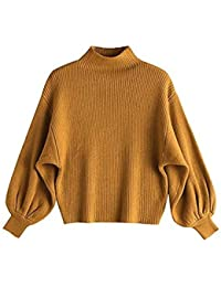 YSFU maglieria Maglieria Maglioni Autunno E Inverno Maglieria Donna Maniche  A Palloncino Pullover Donna Pull d437d70f17e