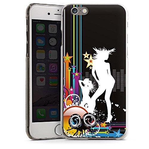 Apple iPhone 5s Housse Étui Protection Coque Discothèque Fête Silhouette CasDur transparent