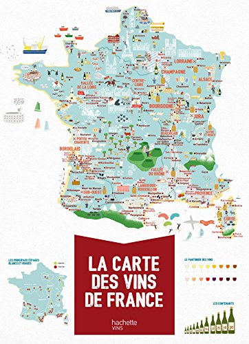 La carte des vins de France par  Melody Denturck