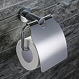 Home Lody SS304acier inoxydable de qualité à papier toilette Porte-papier toilette avec couvercle support porte rouleau papier WC Support mural porte-rouleau papier toilette salle de bain mural