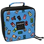 Minecraft 9527 Childrens Kids Official Bobble Mobs Blue Lunch Box