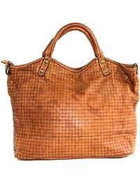 1cb1a717ddfac BZNA Bag Lotta cognac Italy Designer Damen Ledertasche Handtasche  Schultertasche Tasche Leder Beutel Neu