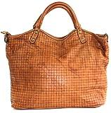 BZNA Bag Lotta cognac Italy Designer Damen Ledertasche Handtasche Schultertasche Tasche Leder Beutel Neu