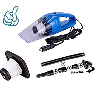 Anano Car Vacuum Cleaner,5m Cable 12V 120W Wet &Dry Portable Handheld Auto Cacuum Cleaner for Car or Home