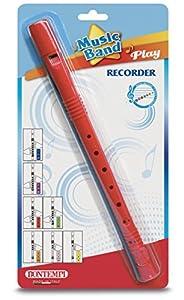 Bontempi- Recorder Flauta Soprano barroca, Color Rojo (Spanish Business Option Tradding 31 3042)