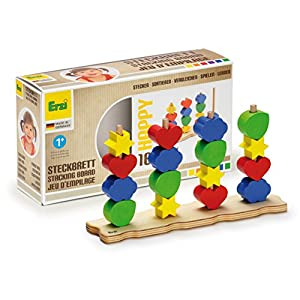Junta Erzi feliz apilamiento juguete de madera alemán