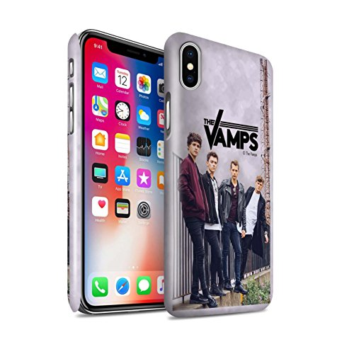 Offiziell The Vamps Hülle / Glanz Snap-On Case für Apple iPhone X/10 / Kohlenstoff Muster / The Vamps Fotoshoot Kollektion Sammelalbum